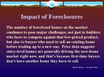 impact of foreclosures