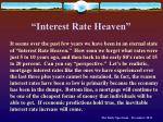 interest rate heaven