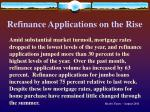 refinance applications on the rise