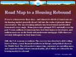 road map to a housing rebound