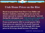 utah home prices on the rise