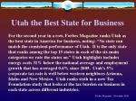 utah the best state for business