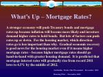what s up mortgage rates