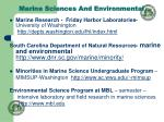 marine sciences and environmental