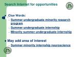 search internet for opportunities