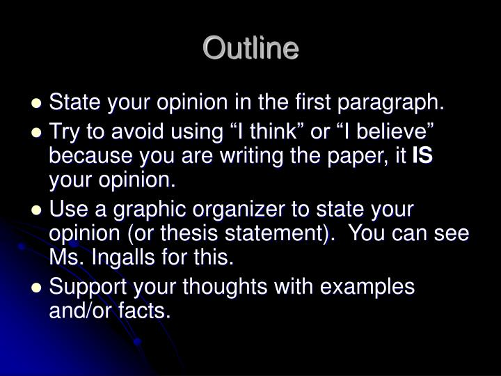 An Opinion Essay.ppt - Google Slides