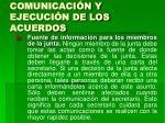 comunicaci n y ejecuci n de los acuerdos25