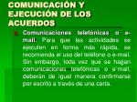 comunicaci n y ejecuci n de los acuerdos26