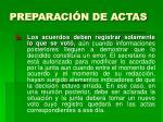 preparaci n de actas19