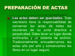 preparaci n de actas22