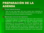 preparaci n de la agenda12
