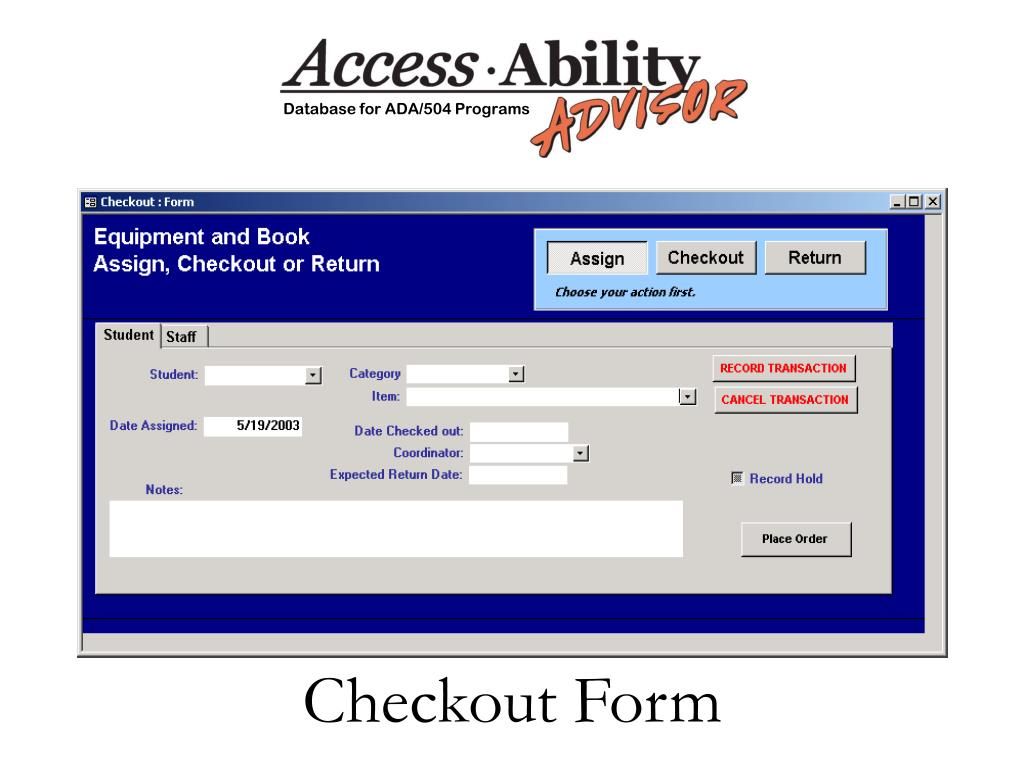 Checkout Form