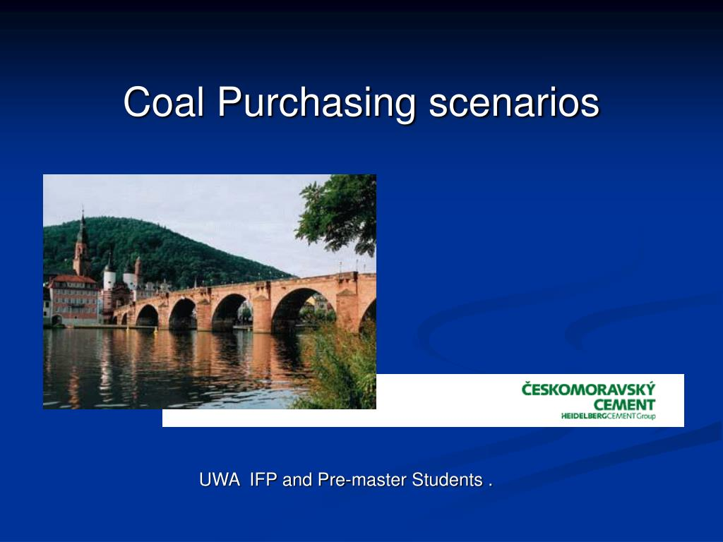 coal purchasing scenarios l.
