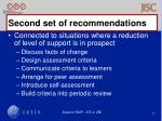 second set of recommendations