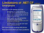 limitations of net cf continued smartphone