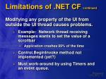 limitations of net cf continued24