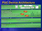 puc device architecture