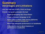 summary advantages and limitations