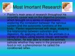 most imortant research