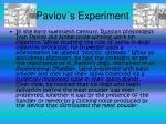 pavlov s experiment