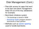 disk management cont