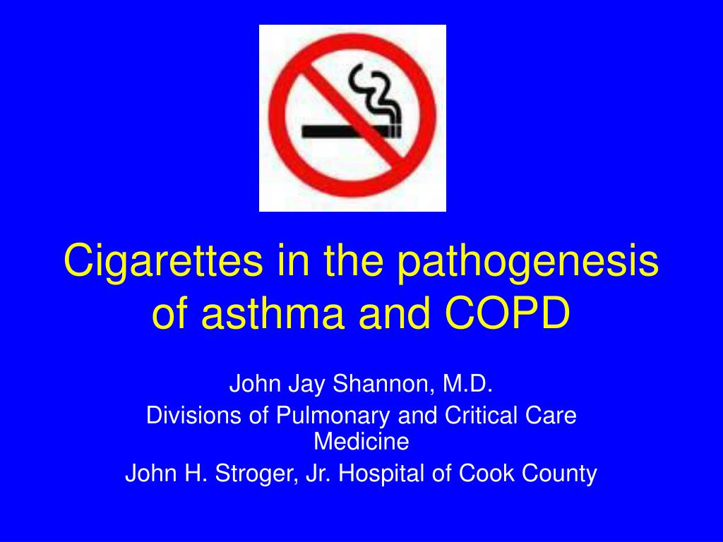 cigarettes in the pathogenesis of asthma and copd l.