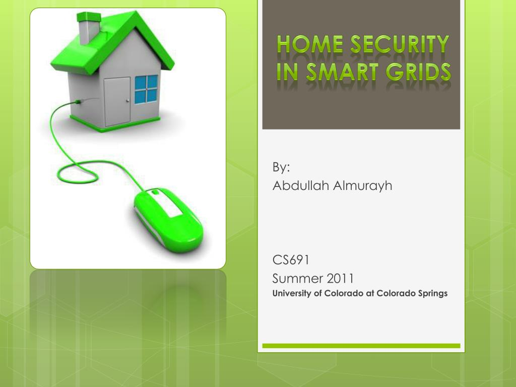 home security in smart grids l.