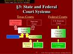 3 state and federal court systems