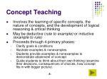 concept teaching