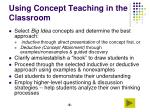 using concept teaching in the classroom