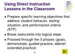 using direct instruction lessons in the classroom