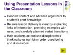using presentation lessons in the classroom