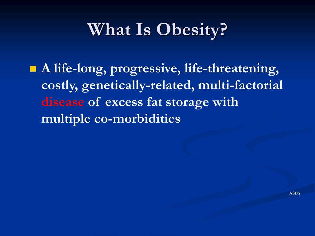 what is obesity l.