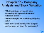 chapter 15 company analysis and stock valuation3
