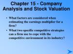 chapter 15 company analysis and stock valuation4