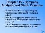 chapter 15 company analysis and stock valuation5