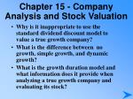 chapter 15 company analysis and stock valuation8