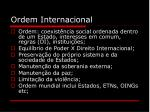 ordem internacional