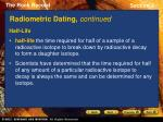radiometric dating continued11