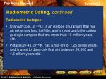 radiometric dating continued15