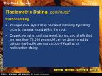 radiometric dating continued18