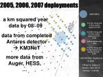 2005 2006 2007 deployments