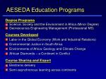 aeseda education programs