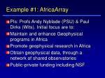 example 1 africaarray