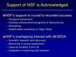 support of nsf is acknowledged