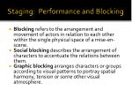 staging performance and blocking3