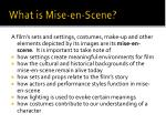 what is mise en scene