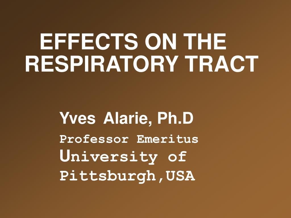 effects on the respiratory tract l.