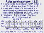 rules and rationale 12 2
