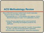 acs methodology review